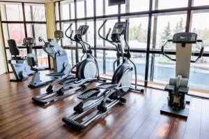 exercise equipment at fitness center